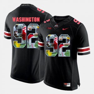 #92 Adolphus Washington Ohio State Buckeyes Pictorial Fashion Mens Jersey - Black