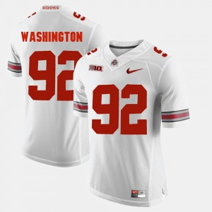 #92 Adolphus Washington Ohio State Buckeyes Alumni Football Game Men's Jersey - White