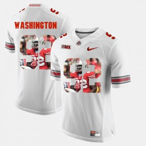 #92 Adolphus Washington Ohio State Buckeyes Pictorial Fashion For Men's Jersey - White
