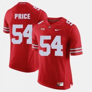 #54 Billy Price Ohio State Buckeyes Mens Alumni Football Game Jersey - Scarlet