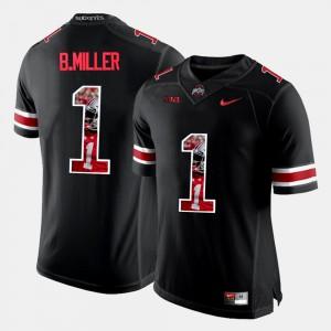 #1 Braxton Miller Ohio State Buckeyes Mens Pictorial Fashion Jersey - Black