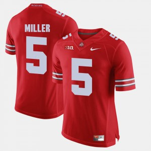 #5 Braxton Miller Ohio State Buckeyes Alumni Football Game Men Jersey - Scarlet