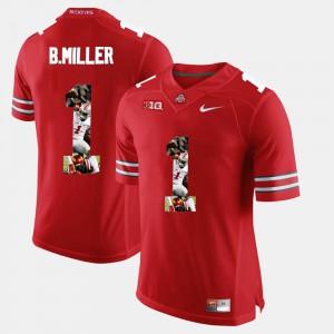 #1 Braxton Miller Ohio State Buckeyes Pictorial Fashion Men Jersey - Scarlet