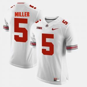 #5 Braxton Miller Ohio State Buckeyes Alumni Football Game For Men's Jersey - White