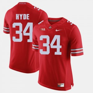 #34 CameCarlos Hyde Ohio State Buckeyes Alumni Football Game For Men's Jersey - Scarlet