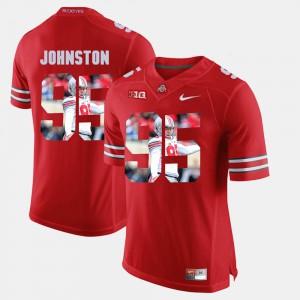#95 Cameron Johnston Ohio State Buckeyes Pictorial Fashion Men Jersey - Scarlet