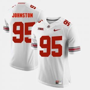 #95 Cameron Johnston Ohio State Buckeyes Alumni Football Game Men's Jersey - White