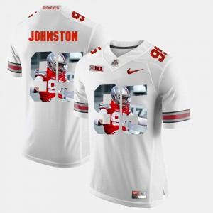 #95 Cameron Johnston Ohio State Buckeyes Mens Pictorial Fashion Jersey - White