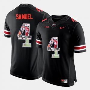#4 Curtis Samuel Ohio State Buckeyes Pictorial Fashion Men's Jersey - Black