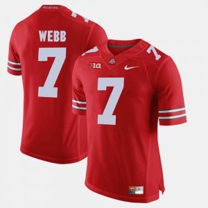 #7 Damon Webb Ohio State Buckeyes Men's Alumni Football Game Jersey - Scarlet