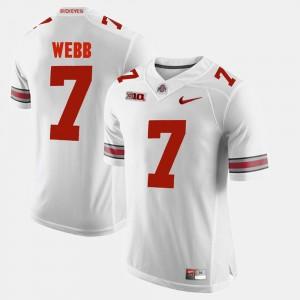 #7 Damon Webb Ohio State Buckeyes Mens Alumni Football Game Jersey - White