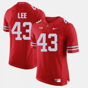 #43 Darron Lee Ohio State Buckeyes Alumni Football Game Men's Jersey - Scarlet