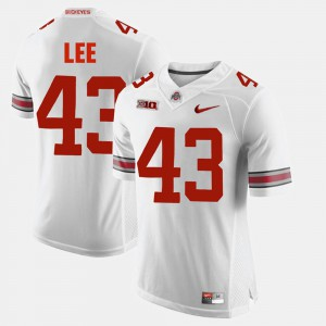 #43 Darron Lee Ohio State Buckeyes Mens Alumni Football Game Jersey - White