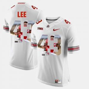 #43 Darron Lee Ohio State Buckeyes Pictorial Fashion Men's Jersey - White