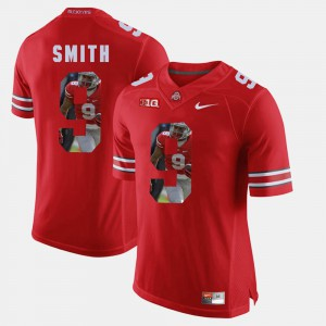 #9 Devin Smith Ohio State Buckeyes Pictorial Fashion Mens Jersey - Scarlet