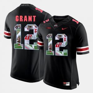 #12 Doran Grant Ohio State Buckeyes Pictorial Fashion Men's Jersey - Black