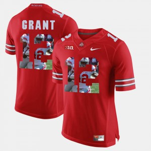 #12 Doran Grant Ohio State Buckeyes Mens Pictorial Fashion Jersey - Scarlet