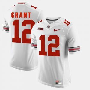 #12 Doran Grant Ohio State Buckeyes Alumni Football Game Mens Jersey - White