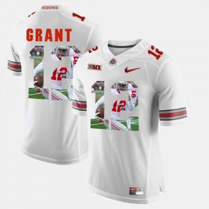 #12 Doran Grant Ohio State Buckeyes Pictorial Fashion Men's Jersey - White