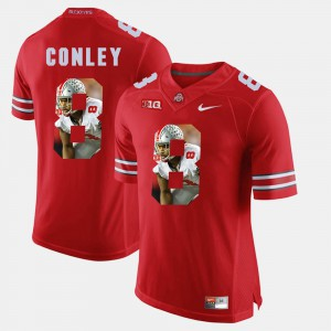 #8 Gareon Conley Ohio State Buckeyes Pictorial Fashion For Men's Jersey - Scarlet