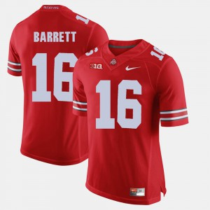 #16 J.T. Barrett Ohio State Buckeyes Alumni Football Game Mens Jersey - Scarlet