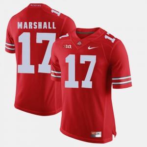 #17 Jalin Marshall Ohio State Buckeyes Alumni Football Game Men's Jersey - Scarlet