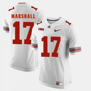 #17 Jalin Marshall Ohio State Buckeyes Alumni Football Game For Men's Jersey - White