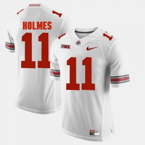 #11 Jalyn Holmes Ohio State Buckeyes Alumni Football Game Mens Jersey - White