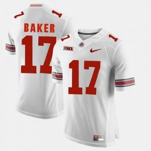 #17 Jerome Baker Ohio State Buckeyes Men's Alumni Football Game Jersey - White
