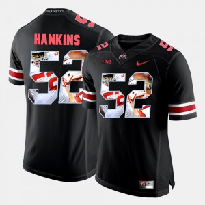 #52 Johnathan Hankins Ohio State Buckeyes For Men Pictorial Fashion Jersey - Black