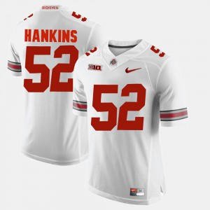 #52 Johnathan Hankins Ohio State Buckeyes For Men's Alumni Football Game Jersey - White