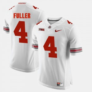 #4 Jordan Fuller Ohio State Buckeyes Men's Alumni Football Game Jersey - White