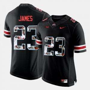 #23 Lebron James Ohio State Buckeyes Pictorial Fashion Men's Jersey - Black