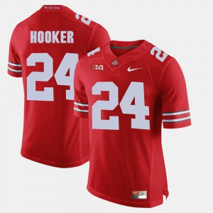 #24 Malik Hooker Ohio State Buckeyes Alumni Football Game For Men's Jersey - Scarlet