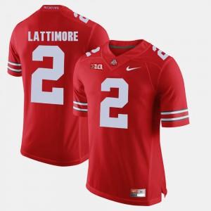 #2 Marshon Lattimore Ohio State Buckeyes Alumni Football Game Men Jersey - Scarlet