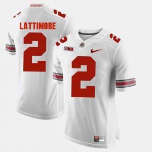 #2 Marshon Lattimore Ohio State Buckeyes For Men's Alumni Football Game Jersey - White
