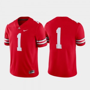 #1 Ohio State Buckeyes Game College Football Men Jersey - Scarlet