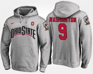#9 Adolphus Washington Ohio State Buckeyes For Men's Hoodie - Gray