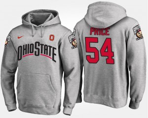 #54 Billy Price Ohio State Buckeyes For Men's Hoodie - Gray
