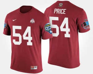 #54 Billy Price Ohio State Buckeyes For Men's Bowl Game Big Ten Conference Cotton Bowl T-Shirt - Scarlet