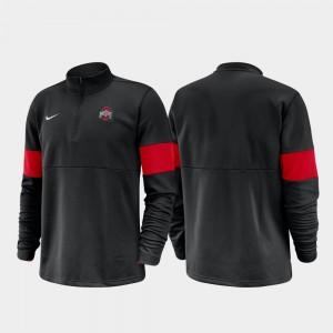 Ohio State Buckeyes Half-Zip Performance 2019 Coaches Sideline For Men's Jacket - Black