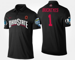 #1 Ohio State Buckeyes For Men's No.1 Big Ten Conference Cotton Bowl Bowl Game Polo - Black
