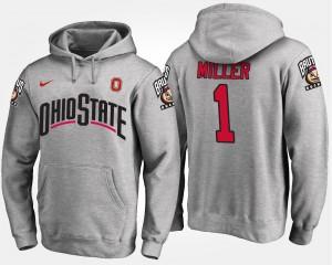 #5 Braxton Miller Ohio State Buckeyes Men Hoodie - Gray