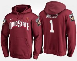 #1 Braxton Miller Ohio State Buckeyes For Men's Hoodie - Scarlet