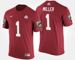 #1 Braxton Miller Ohio State Buckeyes Big Ten Conference Cotton Bowl Bowl Game For Men's T-Shirt - Scarlet