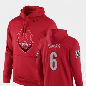 #6 Brian Snead Ohio State Buckeyes Icon Circuit Football Performance For Men's Hoodie - Scarlet