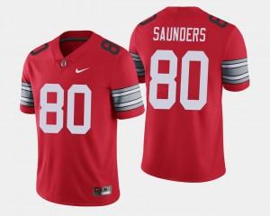 #80 C.J. Saunders Ohio State Buckeyes 2018 Spring Game Limited Men Jersey - Scarlet