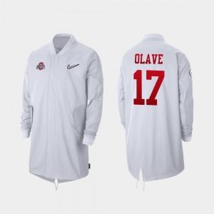 #17 Chris Olave Ohio State Buckeyes Men 2019 College Football Playoff Bound Full-Zip Sideline Jacket - White
