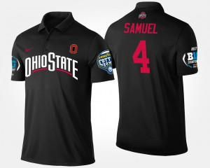 #4 Curtis Samuel Ohio State Buckeyes For Men's Bowl Game Big Ten Conference Cotton Bowl Polo - Black