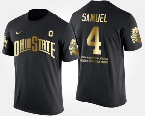 #4 Curtis Samuel Ohio State Buckeyes Gold Limited Mens Short Sleeve With Message T-Shirt - Black